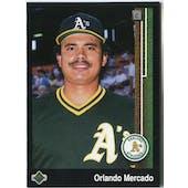 1989 Upper Deck Orlando Mercado Oakland Athletics #624 Black Border Proof