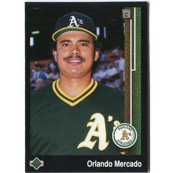 1989 Upper Deck Orlando Mercado Oakland Athletics #624 Black Border Proof