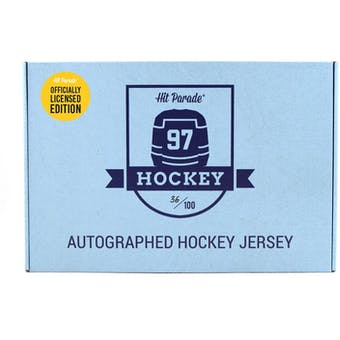 2019/20 Hit Parade Autographed OFFICIALLY LICENSED Hockey Jersey Hobby Box - Series 4 - Orr, Yzerman, Messier!
