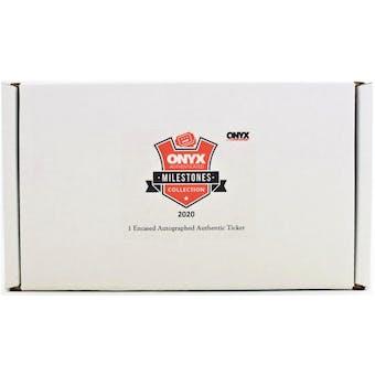 2020 Onyx Milestones Edition Hobby Box