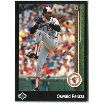 1989 Upper Deck Oswald Peraza Baltimore Orioles #651 Black Border Proof