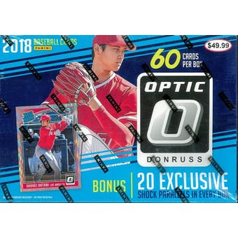 2018 Panini Donruss Optic Baseball 60ct Mega Box