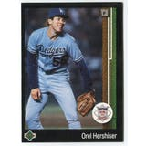 1989 Upper Deck Orel Hershiser Los Angeles Dodgers Blank Back Black Border Proof