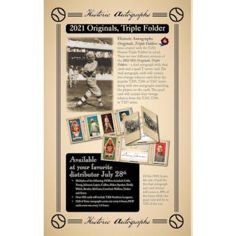 2021 Historic Autographs Originals Triple Folders Baseball Hobby Box