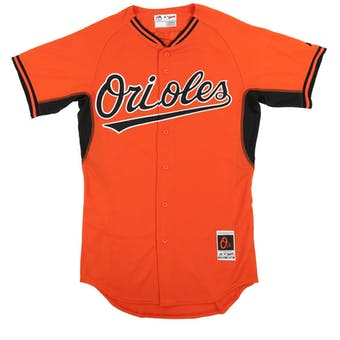 Baltimore Orioles Majestic Orange BP Cool Base Authentic Performance Jersey (Adult 48)
