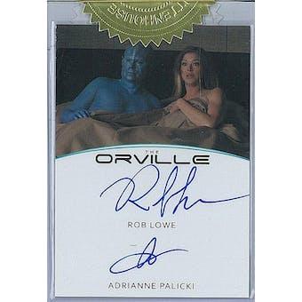 2019 Rittenhouse The Orville Lowe/Palicki Dual Autograph Card
