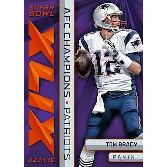 2015 Panini New England Patriots  Super Bowl XLIX AFC Champions Set