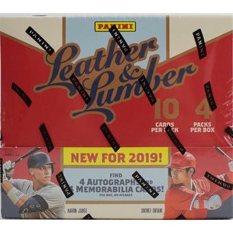 2019 Panini Leather & Lumber Baseball 10-Box Case- DACW Live 6 Spot Random Division Break #2