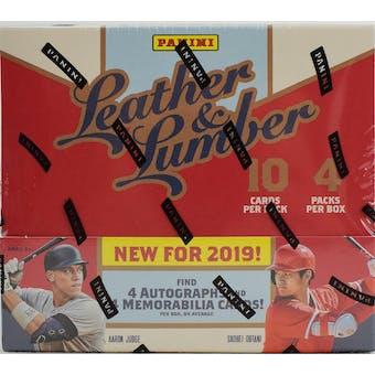 2019 Panini Leather & Lumber Baseball 5-Box- DACW Live 30 Spot Pick Your Team Break #1