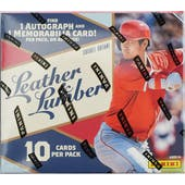 2019 Panini Leather & Lumber Baseball Hobby Pack