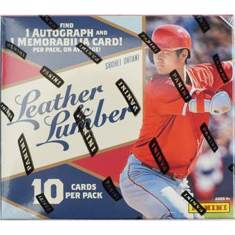 2019 Panini Leather & Lumber Baseball Hobby Pack