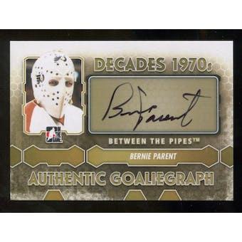 2012/13 In the Game Between The Pipes Autographs #ABP Bernie Parent DEC SP Autograph
