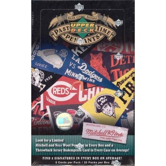 2005 Upper Deck Past Time Pennants Baseball Hobby Box