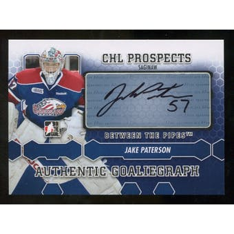 2012/13 In the Game Between The Pipes Autographs #AJP Jake Paterson Autograph