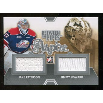 2012/13 In the Game Between The Pipes Aspire Jerseys Silver #ASP09 Jake Paterson/Jimmy Howard /140