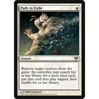 Magic the Gathering Conflux Single Path to Exile Foil