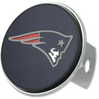 """New England Patriots Rico Industries 4 """" Laser Trailer Hitch Cover"""