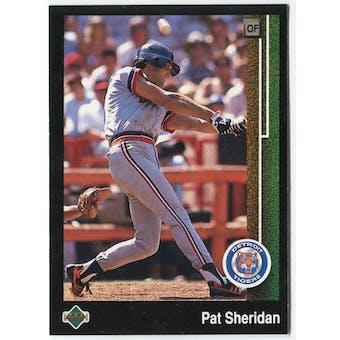 1989 Upper Deck Pat Sheridan Detroit Tigers Blank Back Black Border Proof