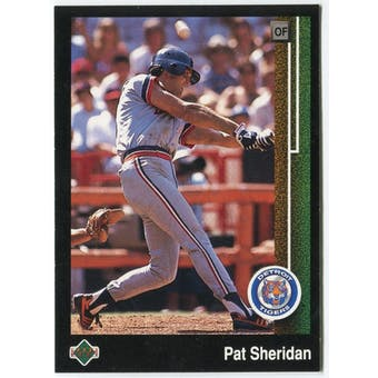 1989 Upper Deck Pat Sheridan Detroit Tigers Blank Back Black Border Proof