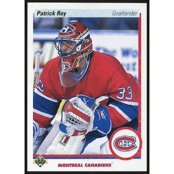 1990-91 Upper Deck Promos 241 Patrick Roy Error-Feet and Inches