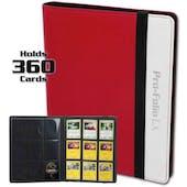 BCW Pro-Folio 9-Pocket LX Album - Red-White