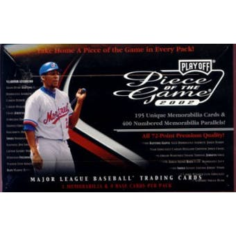 2002 Playoff Piece of the Game Baseball Hobby Pack