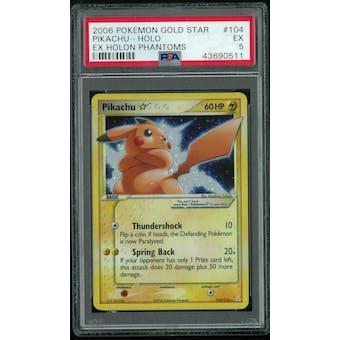 Pokemon EX Holon Phantoms Pikachu Gold Star 104/110 PSA 5