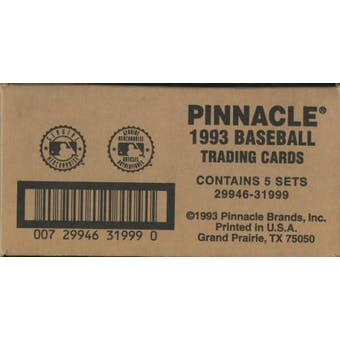 1993 Pinnacle Joe DiMaggio Hobby 5-Set (Box) Case (w/ 5 DiMaggio Autos)
