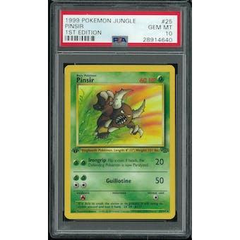 Pokemon Jungle 1st Edition Pinsir 25/64 PSA 10 GEM MINT