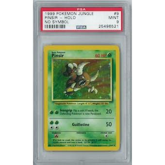 Pokemon Jungle No Set Symbol Error Pinsir 9/64 PSA 9