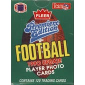 1990 Fleer Update Football Factory Set (Reed Buy)