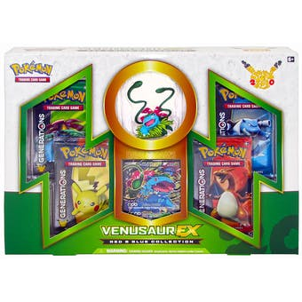 Pokemon Red & Blue Collection Box - Venusaur EX