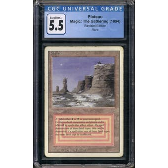 Magic the Gathering 3rd Ed/Revised Plateau CGC 5.5