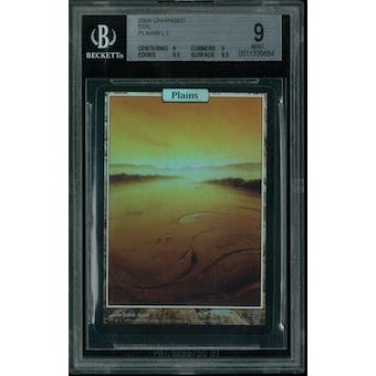 Magic the Gathering Unhinged FOIL Plains BGS 9 (9, 9, 9.5, 8.5)