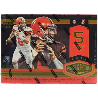 2018 Panini Plates and Patches Football Hobby Box