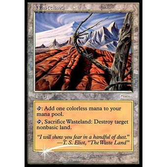 Magic the Gathering Promo Single Wasteland PLAYER REWARDS MPR FOIL - SLIGHT PLAY (SP)