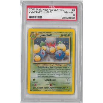 Pokemon Neo Revelation Jumpluff 9/64 PSA 8