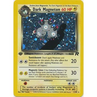 Pokemon Team Rocket 1st Edition Single Dark Magneton 11/82 - NEAR MINT (NM)