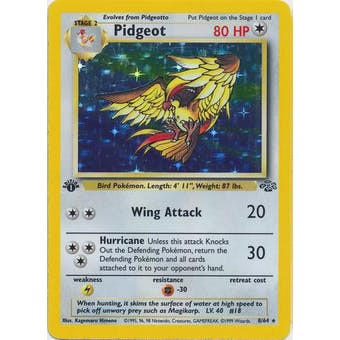 Pokemon Jungle Single 1st Edition Pidgeot 8/64 - SLIGHT PLAY (SP)