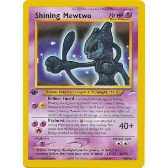 Pokemon Neo Destiny 1st Edition Single Shining Mewtwo 109/105 - SLIGHT PLAY (SP)