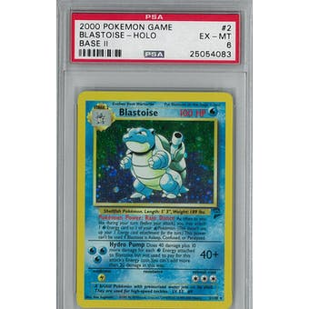 Pokemon Base Set 2 Blastoise 2/130 PSA 6