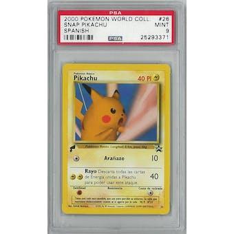 Pokemon World Collection SPANISH Snap Pikachu 26 PSA 9