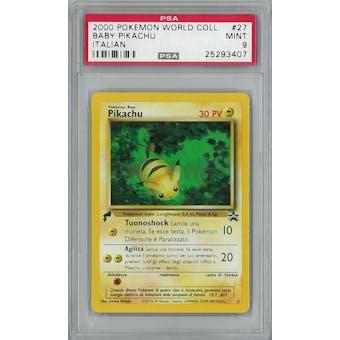 Pokemon World Collection ITALIAN Baby Pikachu 27 PSA 9