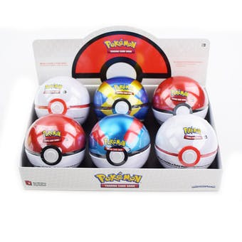 Pokemon Poke Ball Fall 2019 6-Tin Box