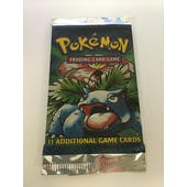 Pokemon Base Set 1 Unlimited Sealed Booster Pack Venusaur Art UNSEARCHED UNWEIGHED