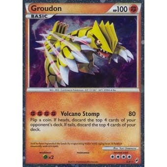 Pokemon Call of Legends Single Groudon SL4 - NEAR MINT (NM)