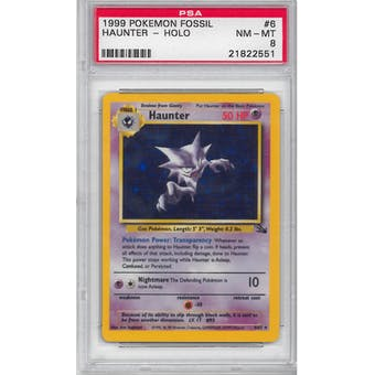 Pokemon Fossil Haunter 6/62 PSA 8