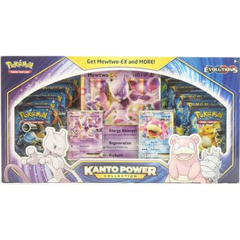 Pokemon Kanto Power Collection Mewtwo BLUE Box (XY Evolutions Boosters!)