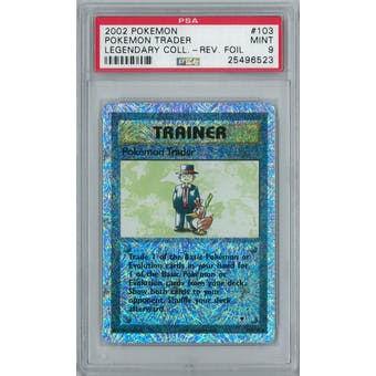 Pokemon Legendary Collection Reverse Foil Pokemon Trader 103/110 PSA 9