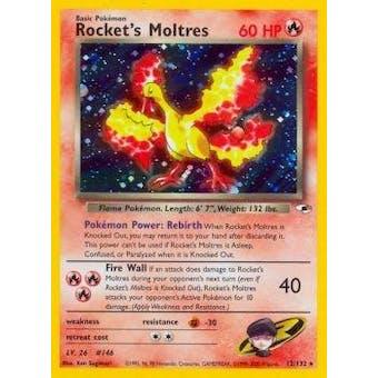 Pokemon Gym Heroes Single Rocket's Moltres 12/132 - NEAR MINT (NM)